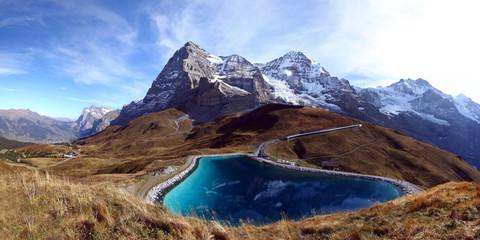 Speichersee mit Eiger, Mönch und Jungfrau
