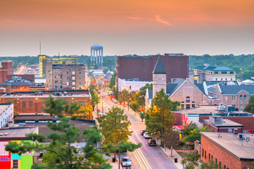 Fotomurales - Columbia, Missouri, USA downtown city skyline