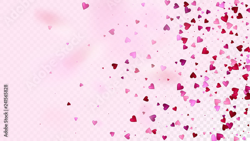 02671a3acc78 Falling Hearts Vector Confetti. Valentines Day Tender Pattern. Elegant  Gift