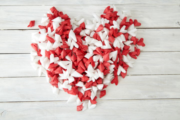Valentines day background hearts Paper
