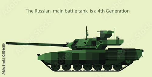 9afd22740e6de Russian Main battle tank is a 4th Generation T - 14 Armata in vector design.