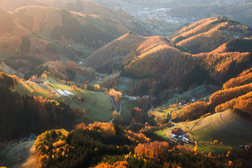 Wall Murals Herbstlandschaft im Schwarzwald