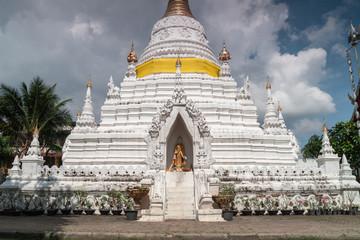 Wat Mahawan, Lanna and Burmese style temple in Chiang Mai, Thailand