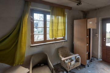 Überreste eines Zimmers im ehemaligen GST-Lager Prerow