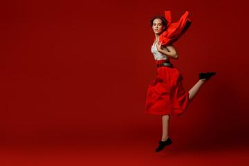 moving jumping girl