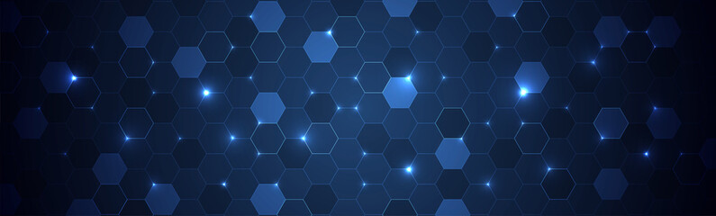 Abstract hexagon background for design works.