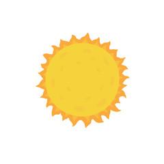 Sun. Vector illustration on white isolated background