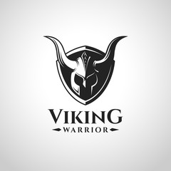 Viking Warrior Logo Vector and symbol