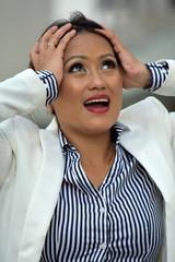 Filipina Business Woman Under Stress