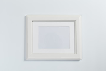 white frame on white background