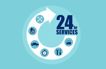 Vector for car services concept