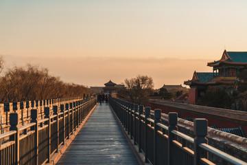 Wall Walkway of Forbidden City Beijing, China in Winter