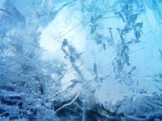 Abstract ice texture Wall mural