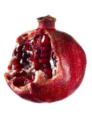 Pomegranate isolated against white background