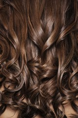 Close up of woman's brunette hair