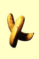 Bananas isolated against white background