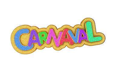 Fotobehang Carnaval Carnival or carnaval gold colorful glitter texture font.