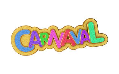 Foto op Plexiglas Carnaval Carnival or carnaval gold colorful glitter texture font.