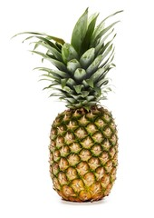 Pineapple isolated against white background