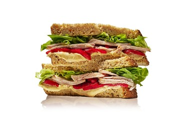 Sandwich isolated against white background