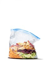 Vegetable and fruit packed in plastic bag