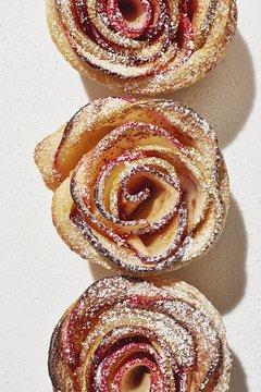 Close up of schnecken against white background