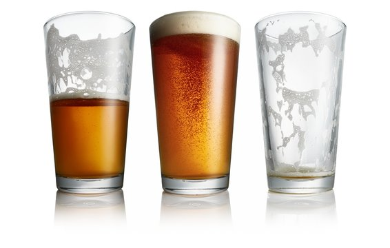 Beer glasses isolated on a white background