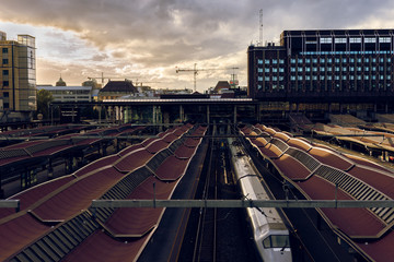 Train station in Oslo, Norway