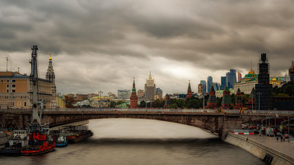 Skyline of Moscow, Russia