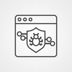 Virus vector icon sign symbol