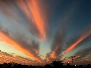 Fantastically beautiful sunset