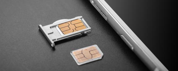 mobile phone and sim card