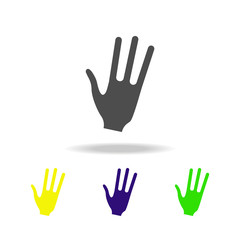 aliens hand multicolored icons. Element of UFO icon Can be used for web, logo, mobile app, UI, UX