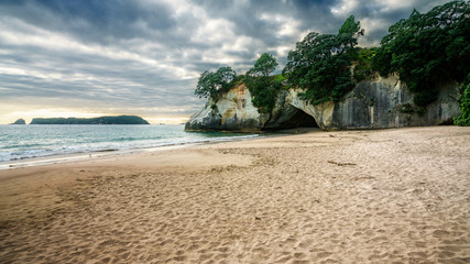Printed roller blinds Cathedral Cove the cave of cathedral cove, coromandel, new zealand 2