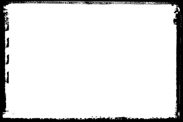 Abstract Decorative Black & White Edge. Type Text Inside, Use as Overlay or for Layer Mask.