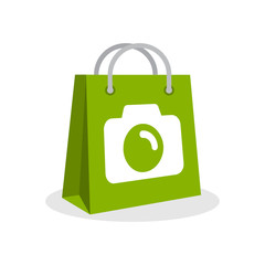 Vector illustration icon with the concept of selling photography products
