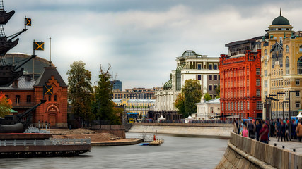 River surrounded by buildings