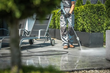 Obraz House Patio Water Cleaning - fototapety do salonu