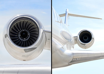 Jet Engine on luxury private aircraft - Bombardier