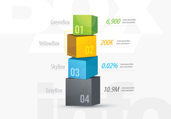 3D Boxes Infographic Layout
