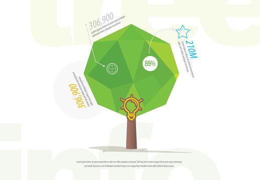 Geometric Tree Infographic Layout