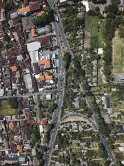 Aerial view of townscape