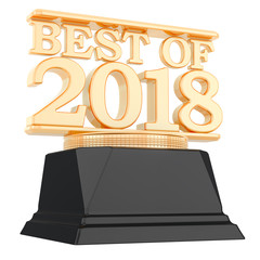 Golden Award, best of 2018 concept. 3D rendering
