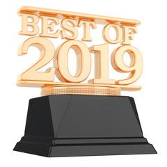 Golden Award, best of 2019 concept. 3D rendering