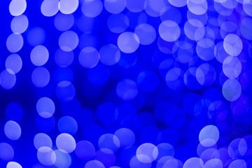 .Beautiful blue bokeh