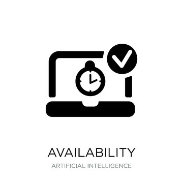 availability icon vector on white background, availability trend