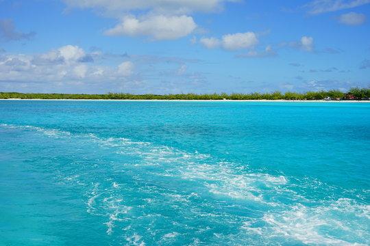 The beautiful Half Moon Bay island in Bahama