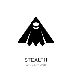 stealth icon vector on white background, stealth trendy filled i