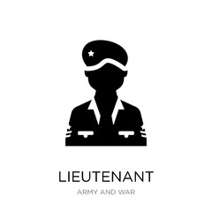 lieutenant icon vector on white background, lieutenant trendy fi