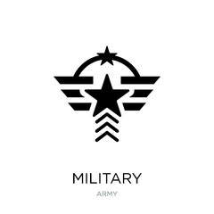 military icon vector on white background, military trendy filled